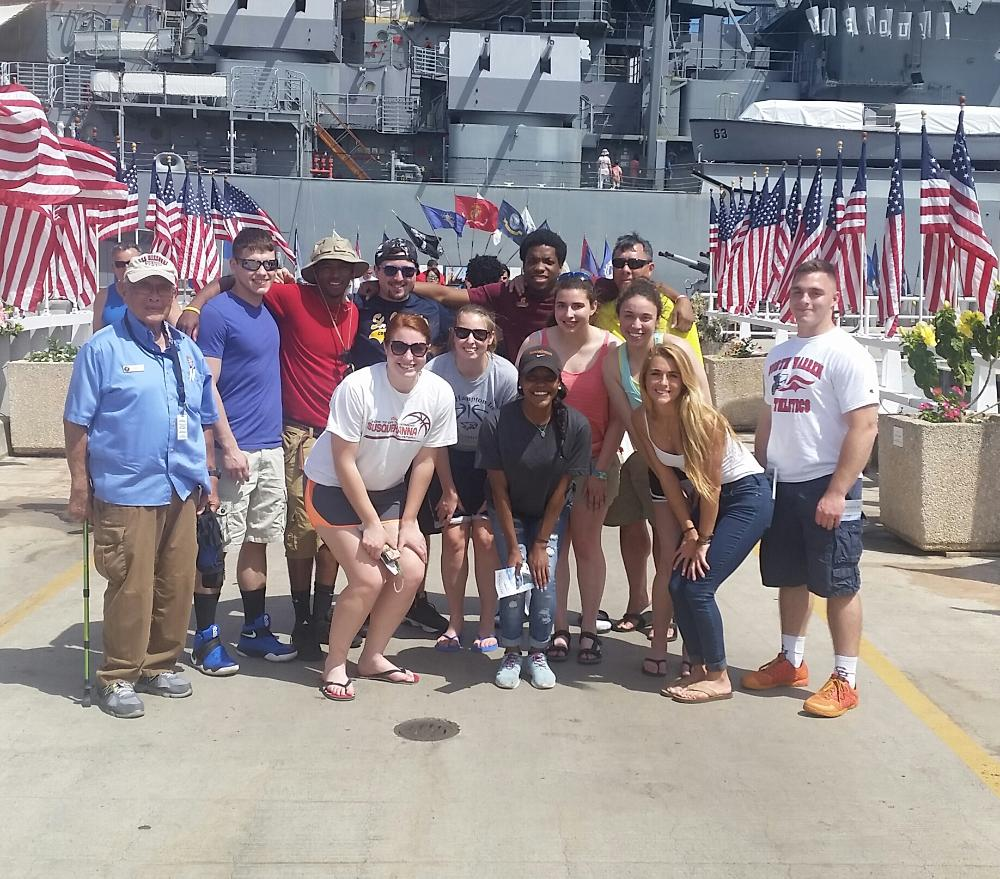 Hawaii group at pearl harbor